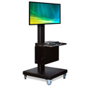 AFC Industries XLCD Cart For Flat Panels 23-46in w/CPU Compartment