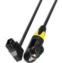RA 4-Pin XLR Female to PowerTap AJA KiPro Series Power Cable - 1-Foot