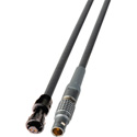 Lemo 4-Pin to AJA Type Micro-Con-X 2-Pin Power Cable - 1-Foot