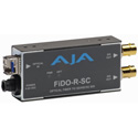 AJA FiDO-R-SC 1-Channel SC Fiber to SDI Converter w/Dual SDI Outputs