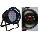 American DJ 64B LED PRO DMX RGB Color Mixing Par Can (Black)
