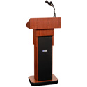 Amplivox S505A Executive Adjustable Sound Column Lectern Light Oak