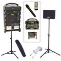 Amplivox SB8001 Titan Wireless Portable PA Bundle with Handheld Mic With embedde