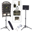 Amplivox SB8002 Titan Wireless Portable PA Bundle with Lapel Mic With embedded Bluetooth