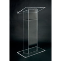 Amplivox SN3075 Clear Acrylic Floor Lectern Wing Style RTA
