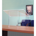 Amplivox SN3085 Clear Acrylic Tabletop Podium Stand