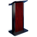Amplivox SN3090 Jewel Mahogany Contemporary Lectern with Flat Front Design