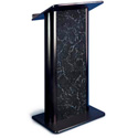 Amplivox SN3095 Pyranees Marble Contemporary Lectern with Flat Front Design