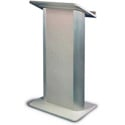Amplivox SN3105 Grey Granite Contemporary Lectern with Flat Front Design