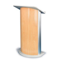 Amplivox SN3130 Hardrock Maple Contemporary Lectern with Curved Front Design