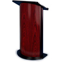 Amplivox SN3135 Jewel Mahogany Contemporary Lectern with Curved Front Design