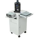 Multimedia Cart with Locking Cabinet