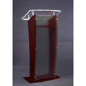 Amplivox SN3500-CH Black Cherry & Clear Acrylic Panel Floor Lectern w/ Shelf