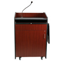 Amplivox SS3235-MP Lectern/Sound/Deluxe Multimedia/Maple