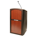 Amplivox ST3250-SC Pinnacle Sound Ready Full Height Lectern with Cherry Panel