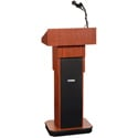 Amplivox SW505A-LO Executive Adjustable Column Lectern - Wireless Sound- Light O