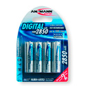 Ansmann 5035092 Mignon Ni-Mh AA 2850mAh Digital Rechargeable Battery - Pack of 4
