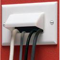 Arlington CEH1 Scoop Single Gang Horizontal Cable Entrance Plate White