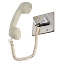 Atlas CE-2A-PT Telephone Intercom Handset/Chrome Hook Switch/Push to Talk Switch