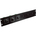 Atlas ATPLATE-052 Attenuator Rack Mounting Plate Holds up to 6 Attenuators