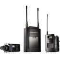 1800 Series Bodypack UHF Single Channel Camera Mount Wireless System