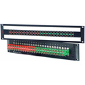 AVP AV-C224E2-AS7511 Mosaic CIS 24 Dual Jack Non-Normaled Terminating 2 RU Patch