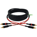 Connectronics B-2P-2P-10 Broadcast Series Gold Stereo RCA Cable Featuring Belden 1902A - 10 Foot