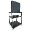 Bretford Wide Body TV Cart 32W x 27-1/2D x 44H