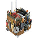 Bucket Boss Pro 56 Pocket Mobile Tool Storage Cart