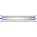 Bittree 422A32 64-Port 2x32 RS422 Active Data Patchbay