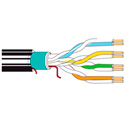Belden 11700A 4 Pair UTP Enhanced Cat5e Cable - Black - 1000 Foot