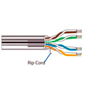 Belden 1874A Plenum MediaTwist Enhanced Category 6 Cable - Black - 1000 Foot