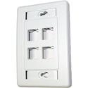 Belden AX101437 Interface Plate - 4 Port Single Gang Flush