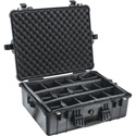 Pelican 1604 Case with Movable Dividers Black