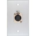 MCS BRP-1115/CA Board Room 1-Gang Clear Anodized w/1 Neutrik 3-Pin XLR Female Connector