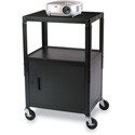 26-42 Inch Adjustable Height Mobile Cabinet Cart 24W x 18D