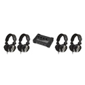 CAD Audio HP110 Four MH110 Studio Headphones and One HA4 Stereo Amplifier