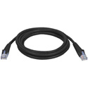 350MHz UTP CAT5e Patch Cable 3 Foot Black