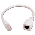 TecNec CAT5E Male to Female PortSaver Cable 1ft