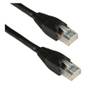 Molded UTP Cat6 Cable 24AWG 50u 100 Foot Black