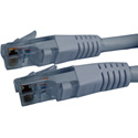 Molded UTP Cat6 Cable 24AWG 50u 7 Foot Grey