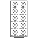 Cobalt Digital RM20-9003-A Rear I/O Module 2 HD/SD-SDI Inputs 8 Reclocked HD/SD-SDI Outputs For openGear Card 9003