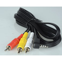 TecNec 3.5mm TRRS to RCA Composite & Stereo Audio Camcorder Cable 3 Ft