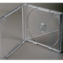 Clear CD Jewel Boxes with Black Trays - 100 Pack