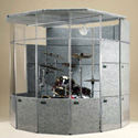 ClearSonic MegaPac 7x8x7 Sound Isolation Booth - Light Gray