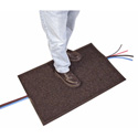 Charcoal Gray 24in x 36in Cable Crossover Mat & Cable Protector