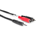 3.5mm Stereo Mini Male To Dual RCA Male Audio Y-Cable 6 Foot
