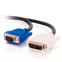 DVI Male to HD15 VGA Male Video Cable (6.5ft)