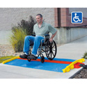 Cross Guard ADA Ramp Attachments for Guard Dog GD3X225. Blue