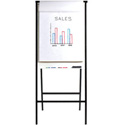 Bretford CR8504-BK Easel & Dry Erase; CR Series; 29.25Wx10.5Dx70.25H; Black